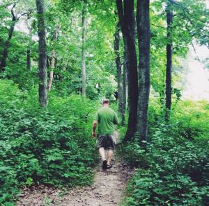 Steve on trail